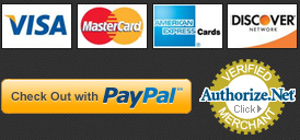 We Accept and We accept PayPal and Authorize.net