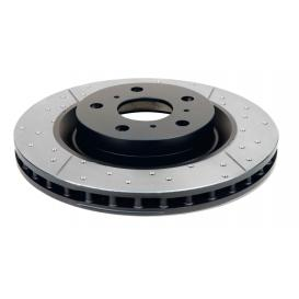 Street Series Rotor - Cross Drilled/Slotted Uni-Directional Rotor