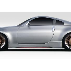 Fiberglass N4 Side Skirts Rocker Panels (Unpainted)