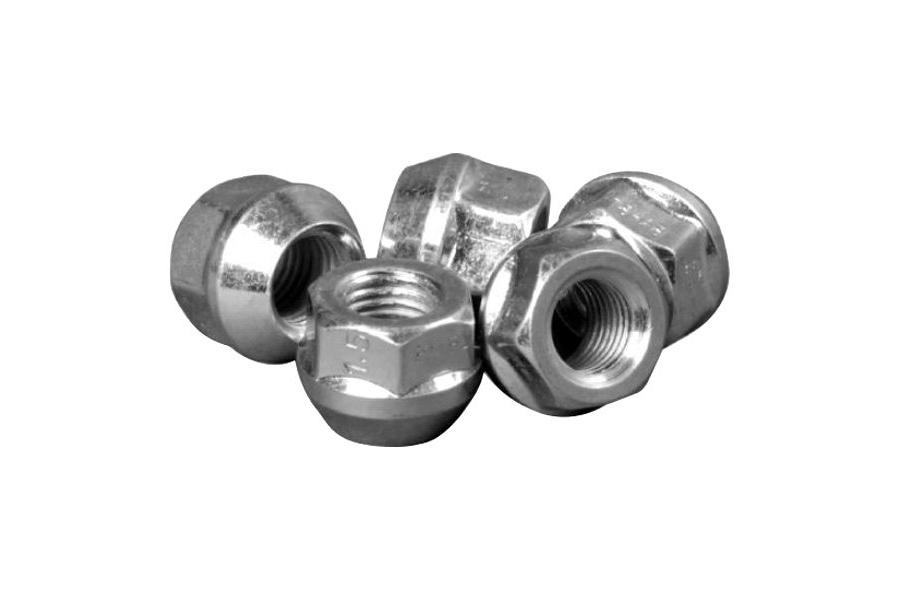 H&R Rounded D24 Silver 19mm Lug Nut - Each - H&R 125002