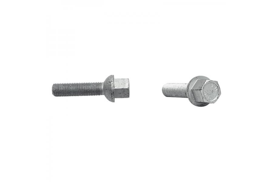 H&R VW / Audi Ball 28mm Thread Length Silver Wheel Lug Bolt - Set of 20 - H&R 1252803-20