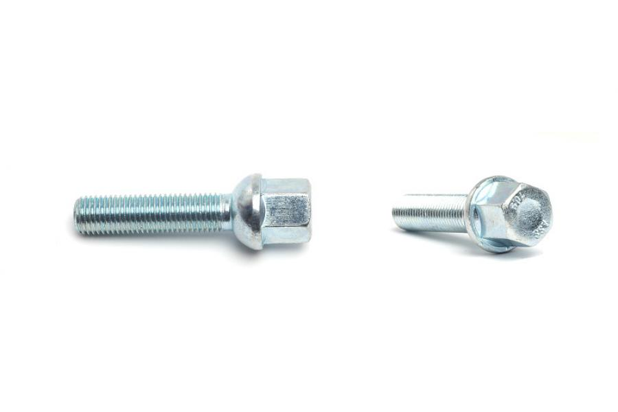 H&R Mercedes Ball 47mm Thread Length Silver Wheel Lug Bolt - Each - H&R 1254702