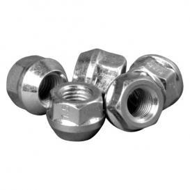 H&R Rounded D28 Silver 19mm Lug Nut - Each