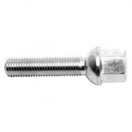 VW / Audi Ball 40mm Thread Length Silver Wheel Lug Bolt - Set of 20