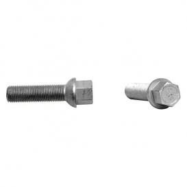 VW / Audi Ball 43mm Thread Length Silver Wheel Lug Bolt - Set of 20