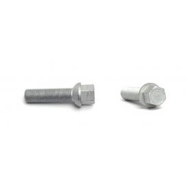 VW / Audi Ball 47mm Thread Length Silver Wheel Lug Bolt - Set of 20