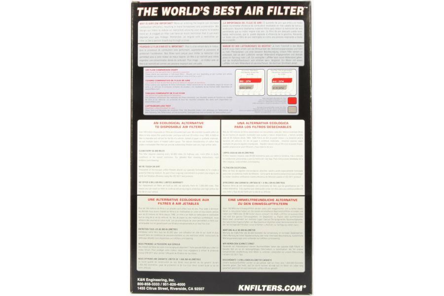 K/&N Replacement Air Filter for Alfa Romeo Milano GTV-6 33-2545