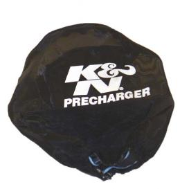 Black Round Straight Precharger Air Filter Wrap