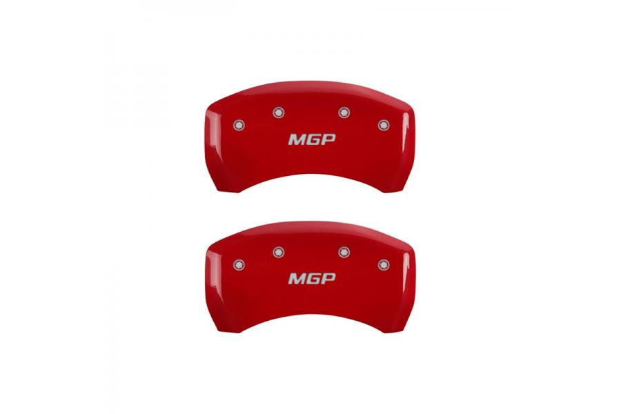 MGP Red Rear Caliper Covers with Silver - MGP 10010RMGPRD
