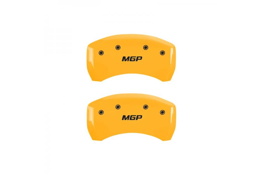 MGP Yellow Rear Caliper Covers with Black - MGP 10010RMGPYL