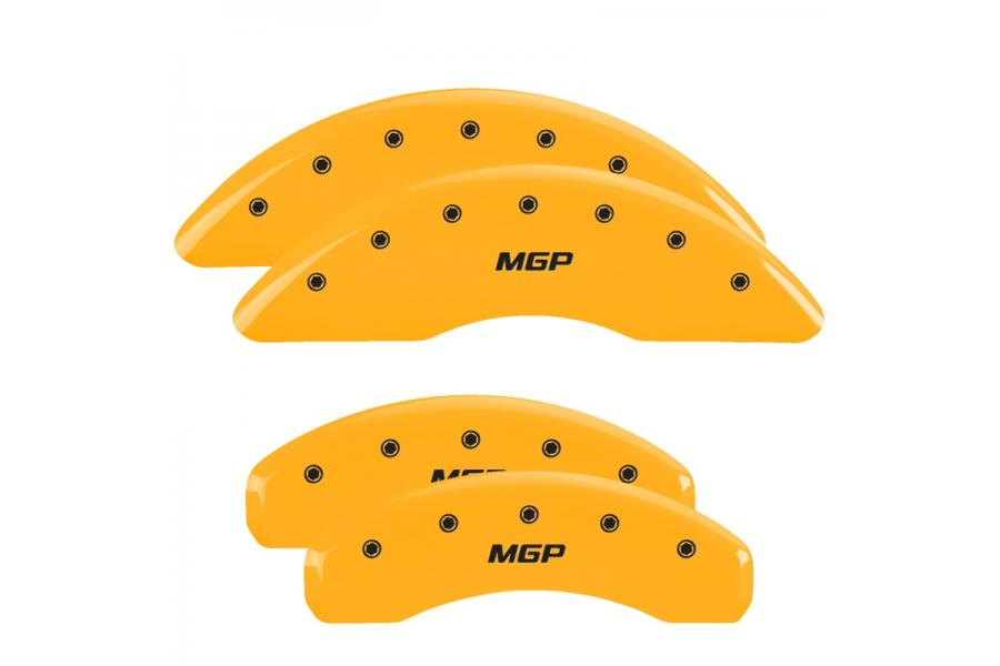 MGP Yellow Front & Rear Caliper Covers with Black - MGP 10023SMGPYL
