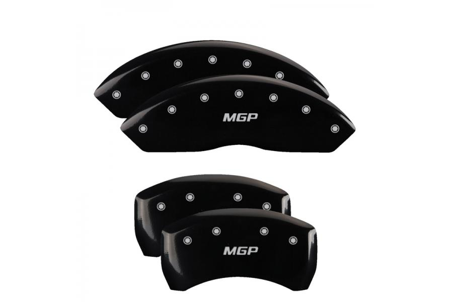 MGP Black Front & Rear Caliper Covers with Silver - MGP 10086SMGPBK