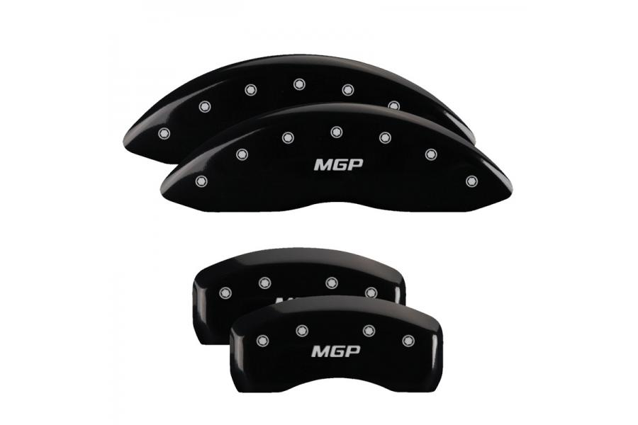 MGP Black Front & Rear Caliper Covers with Silver - MGP 22055SMGPBK