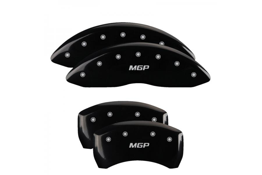 MGP Black Front & Rear Caliper Covers with Silver - MGP 22073SMGPBK