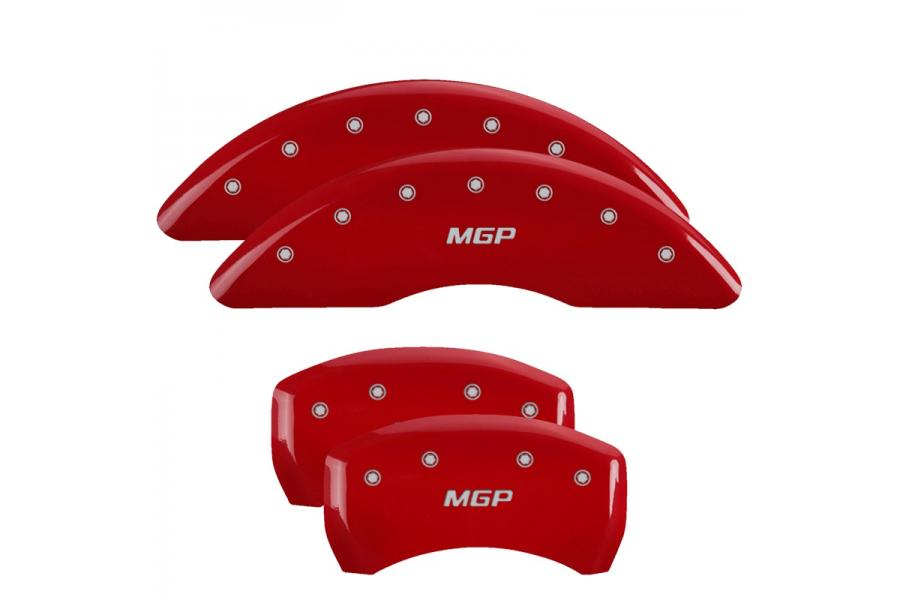 MGP Red Front & Rear Caliper Covers with Silver - MGP 22131SMGPRD