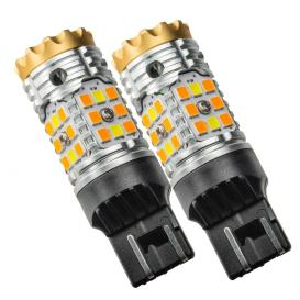 7443-CK LED Switchback High Output Can-Bus LED Bulbs