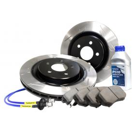 Stage 2 Rear Performance Brake Kit with S-Slot Rotors