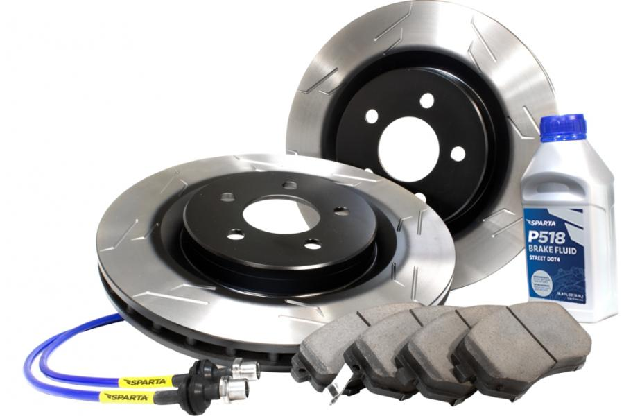 Sparta Stage 2 Rear Performance Brake Kit with S-Slot Rotors - Sparta 1267.132.1047