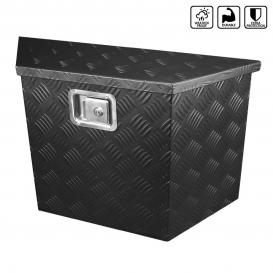 "Spec-D Tuning 15"" to 28"" Heavy Duty Aluminum Black Tool Box Truck Trailer Storage w/ Lock & Keys"