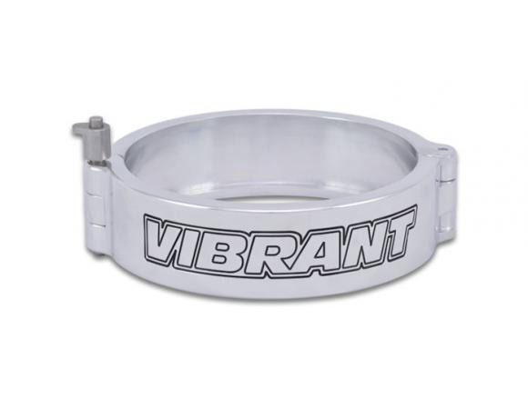 Vibrant Performance 4in. HD Quick Release Clamp w/Pin - Polished - Vibrant Performance 12538P