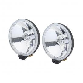 "Stud Mount 5.75"" 2x55W Round Driving Beam Lights with Plastic Cover"