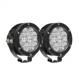 "Axis Series Stud Mount 4.75"" 2x27W Round Spot Beam LED Lights"