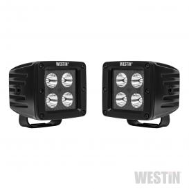 "HyperQ B-Force Stud Mount 3"" 2x20W Square Spot Beam LED Lights"