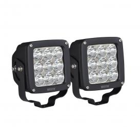"Axis Series Stud Mount 4.5"" 2x27W Square Spot Beam LED Lights"