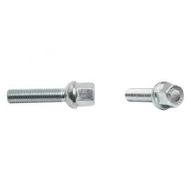 VW / Audi Ball 47mm Thread Length Black Wheel Lug Bolt - Set of 20