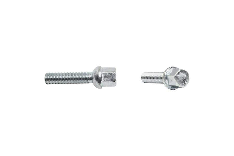 H&R Tapered (60°) 30mm Thread Length Black Wheel Lug Bolt - Each - H&R 1253001SW