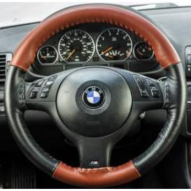 Wheelskins EuroTone Two-Color Leather Steering Wheel Covers