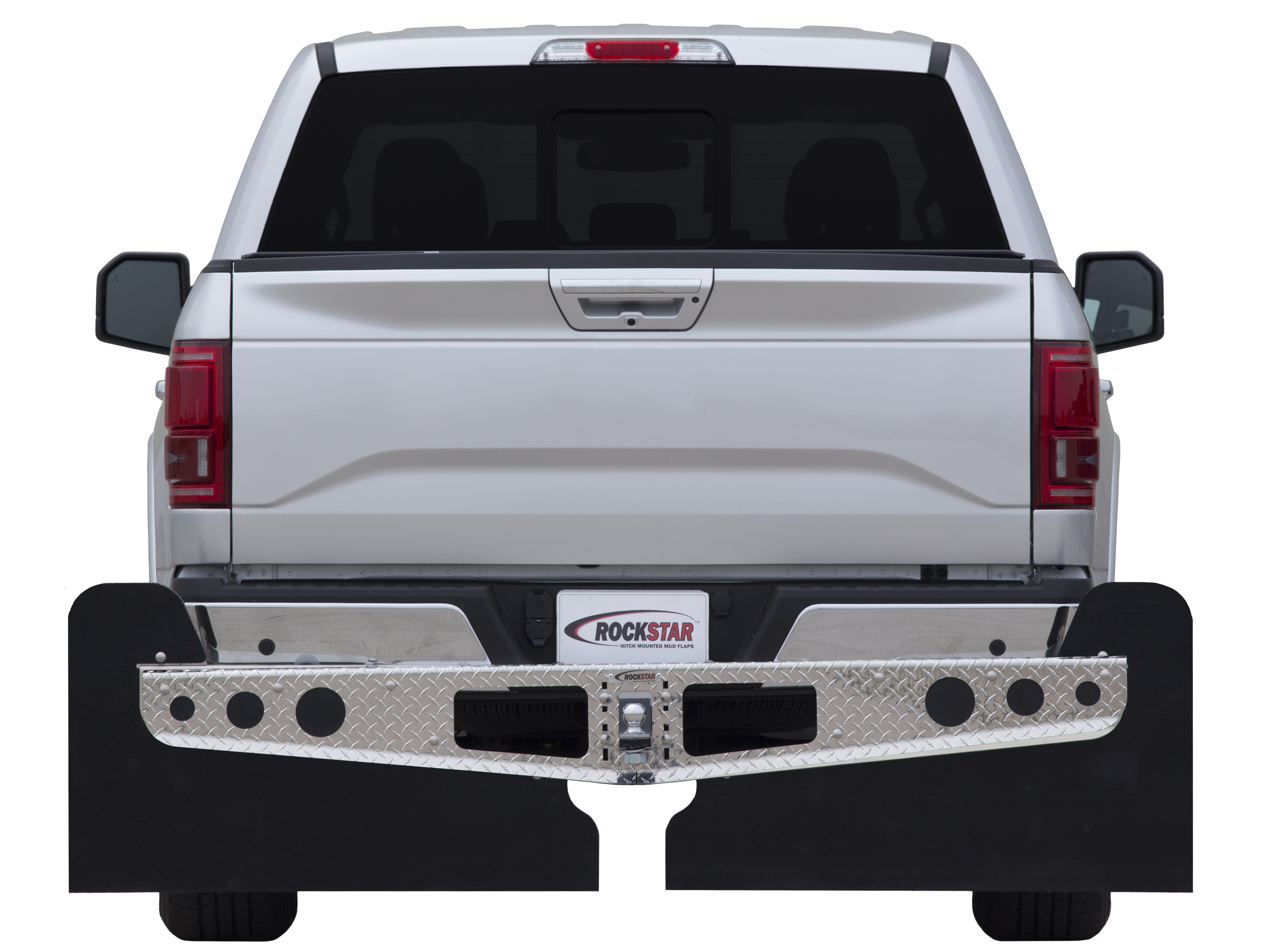 Access Diamond Plate Hitch Mounted Mud Flaps - Access A10400122