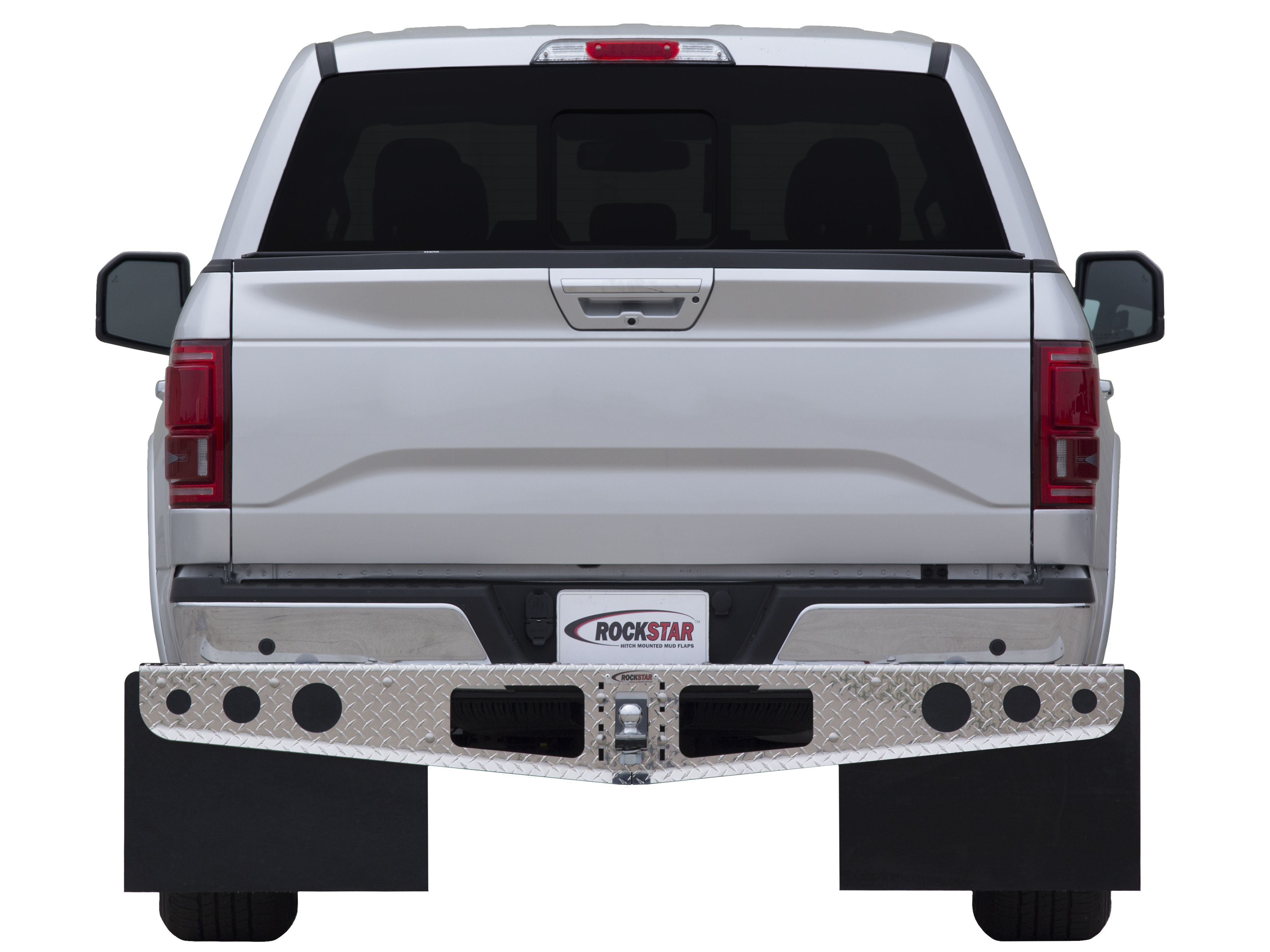 Access Diamond Plate Hitch Mounted Mud Flaps - Access A1040012