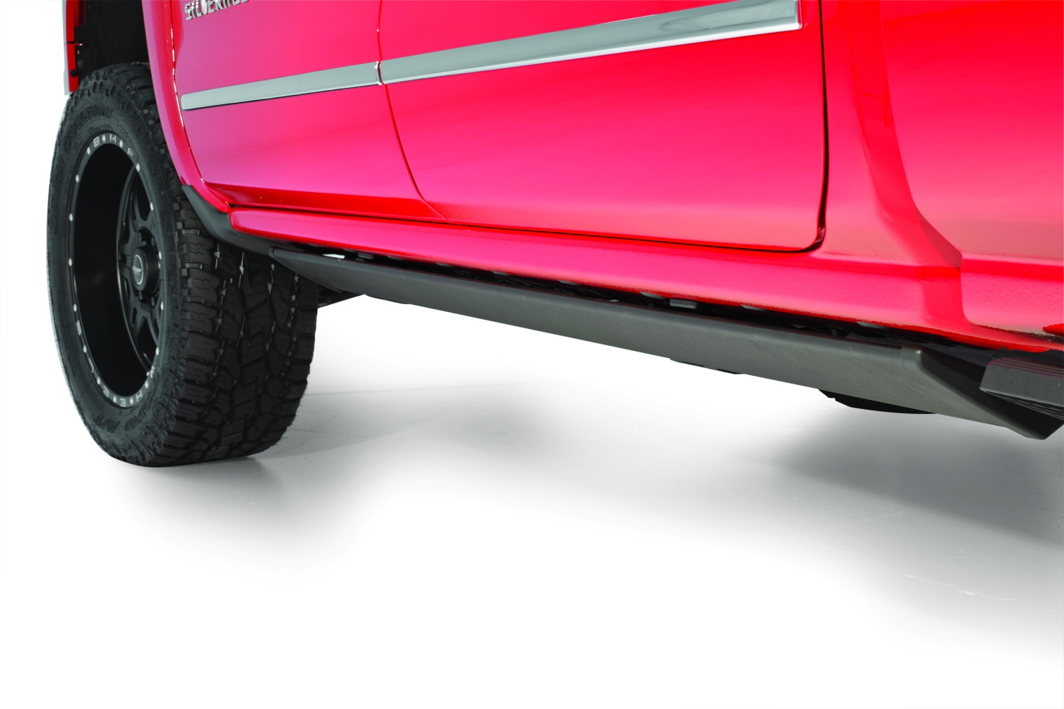 "AMP Research 6.25"" PowerStep Cab Length Black Running Boards - AMP Research 75154-01A-B"