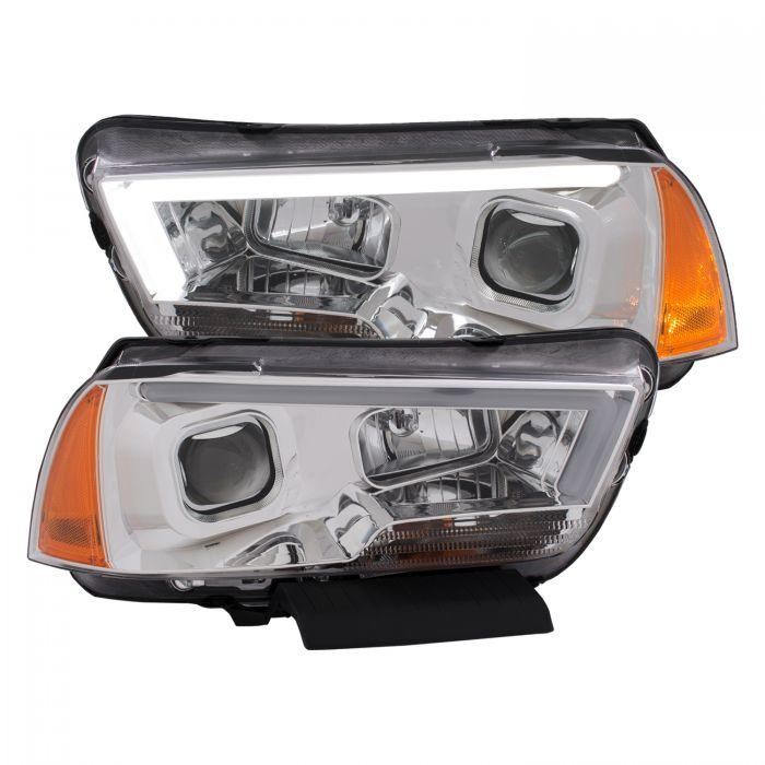 Anzo Chrome Plank Style Projector Headlights - Anzo 121525