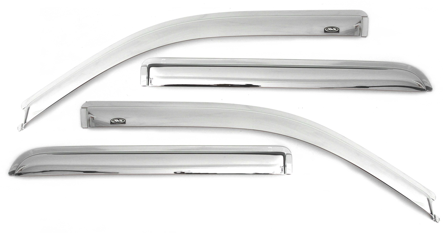 AVS Chrome Ventvisor Window Deflectors - 4 Pieces - AVS 684751