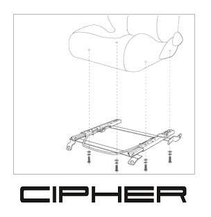 Cipher Auto Passenger Side Seat Bracket - Cipher Auto 7155FDRNGR-PA