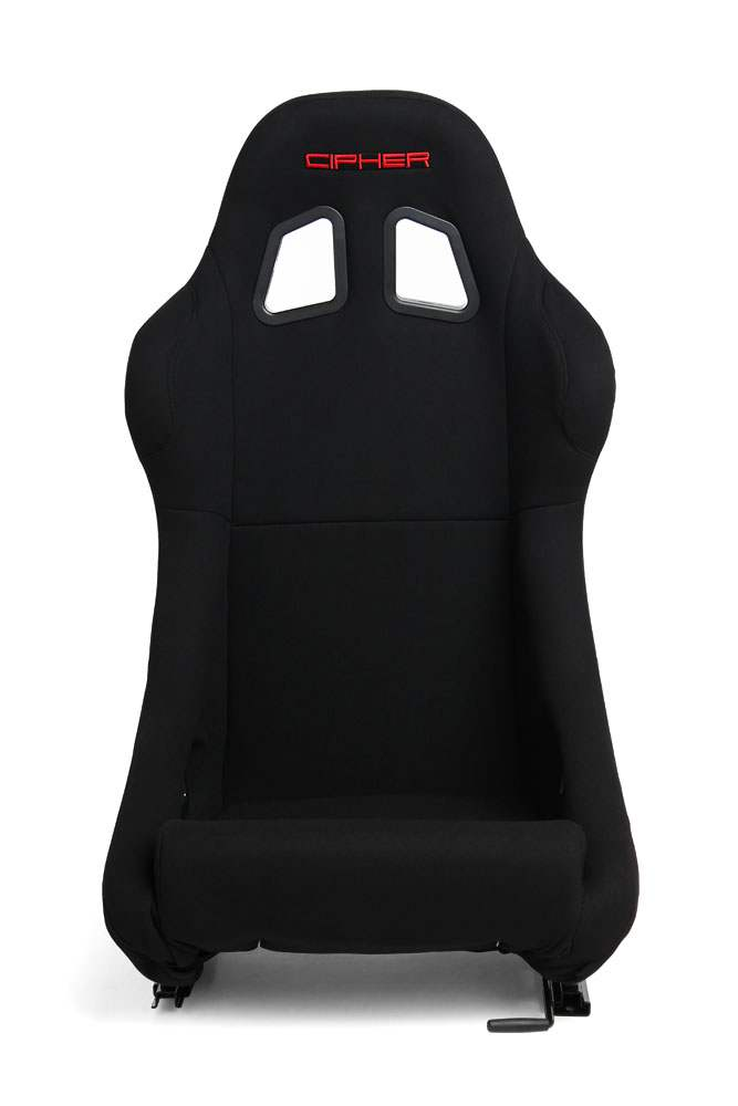 Cipher Auto CPA1005 Back Cloth Full Bucket Non Reclineable Racing Seat - Each - Cipher Auto CPA1005FBK