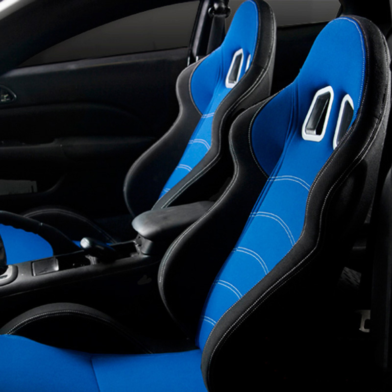 Cipher Auto CPA1018 Blue and Black Cloth Racing Seats - Cipher Auto CPA1018FBKBU