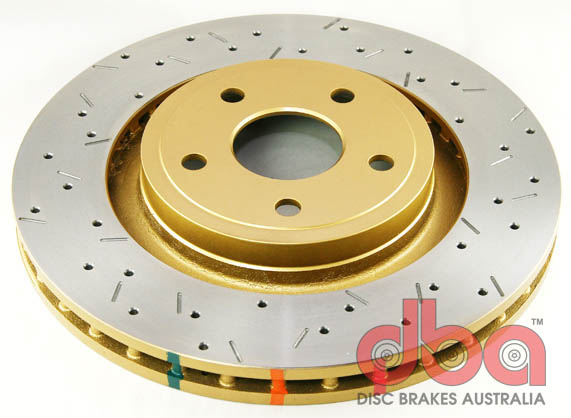 DBA 4000 Series Rotor - Cross Drilled/Slotted Uni-Directional Rotor - DBA 42532XS