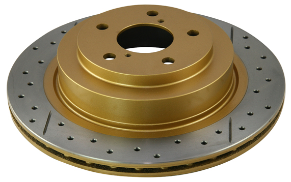 DBA Street Series Rotor - Cross Drilled/Slotted Uni-Directional Rotor - DBA 041X