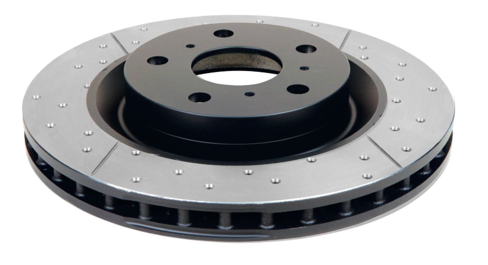 DBA Street Series Rotor - Cross Drilled/Slotted Uni-Directional Rotor - DBA 069BLKX