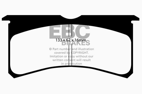 EBC Brakes DP91853 Orangestuff Full Race Brake Pad