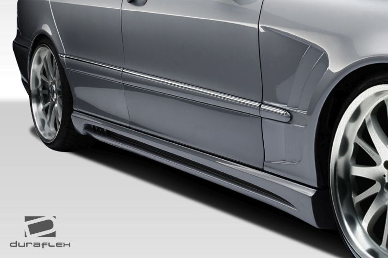 Duraflex W-2 Side Skirts Rocker Panels (long wheelbase) - 2 Piece - Duraflex 107720