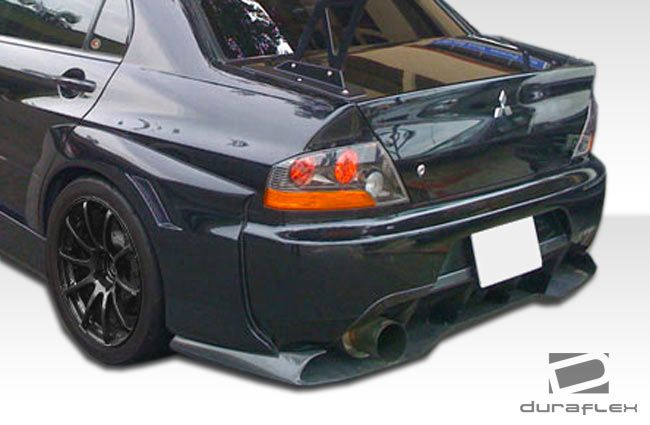 Duraflex VT-X Wide Body Rear Lip Under Spoiler Air Dam with Diffuser - 1 Piece - Duraflex 107214
