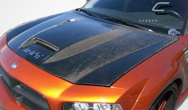 Carbon Creations SRT Look Hood - 1 Piece - Carbon Creations 104748