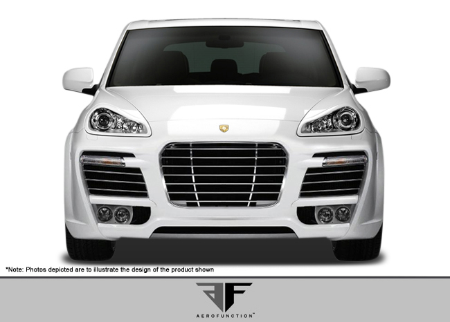 Aero Function AF-1 Wide Body Front Bumper Cover ( GFK ) - 3 Piece - Aero Function 107567