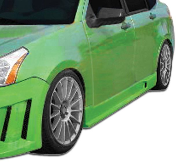 Duraflex Piranha Side Skirts Rocker Panels - 2 Piece - Duraflex 106426