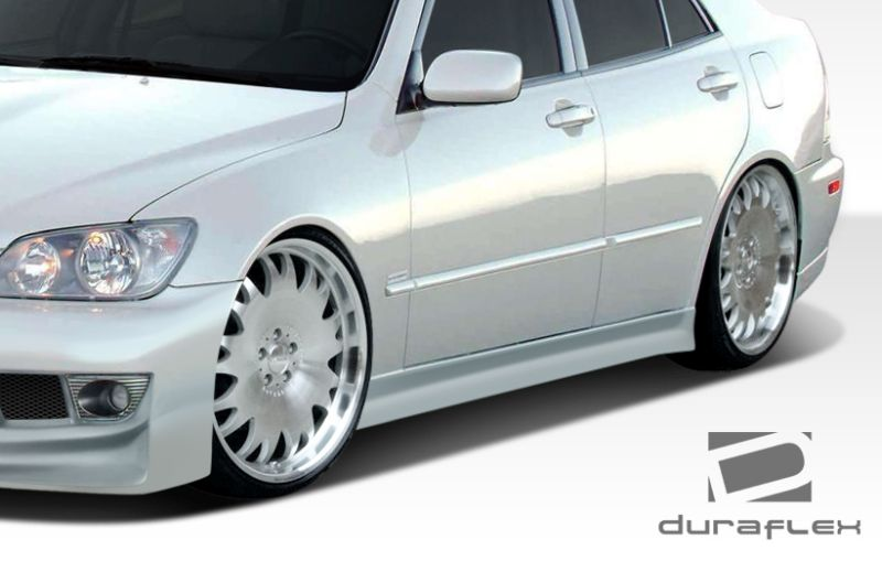 Duraflex V-Speed 2 Side Skirts Rocker Panels - 2 Piece - Duraflex 107767