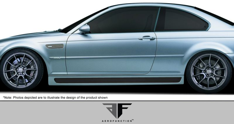 Aero Function AF-2 Side Skirts ( GFK ) - 2 Piece - Aero Function 107889